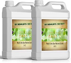 Humboldts Secret Base A & B Bundle – World's Best Base Nutrient System – Liquid Nutrient/Fertilizer for Indoor Plants – Supports Vegetative and Flowering Stages of Plants – Set of 2.5 Gallons