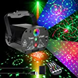 AKEPO Party Light Laser Lights Projector Music Activated Battery Powered Portable Strobe Light RGB LED Indoor DJ Disco Lights