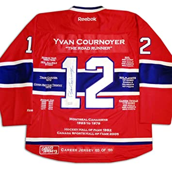 b77ae0e41be Yvan Cournoyer Career Jersey - Autographed - LTD ED 199 - Montreal Canadiens:  Amazon.ca: Sports & Outdoors