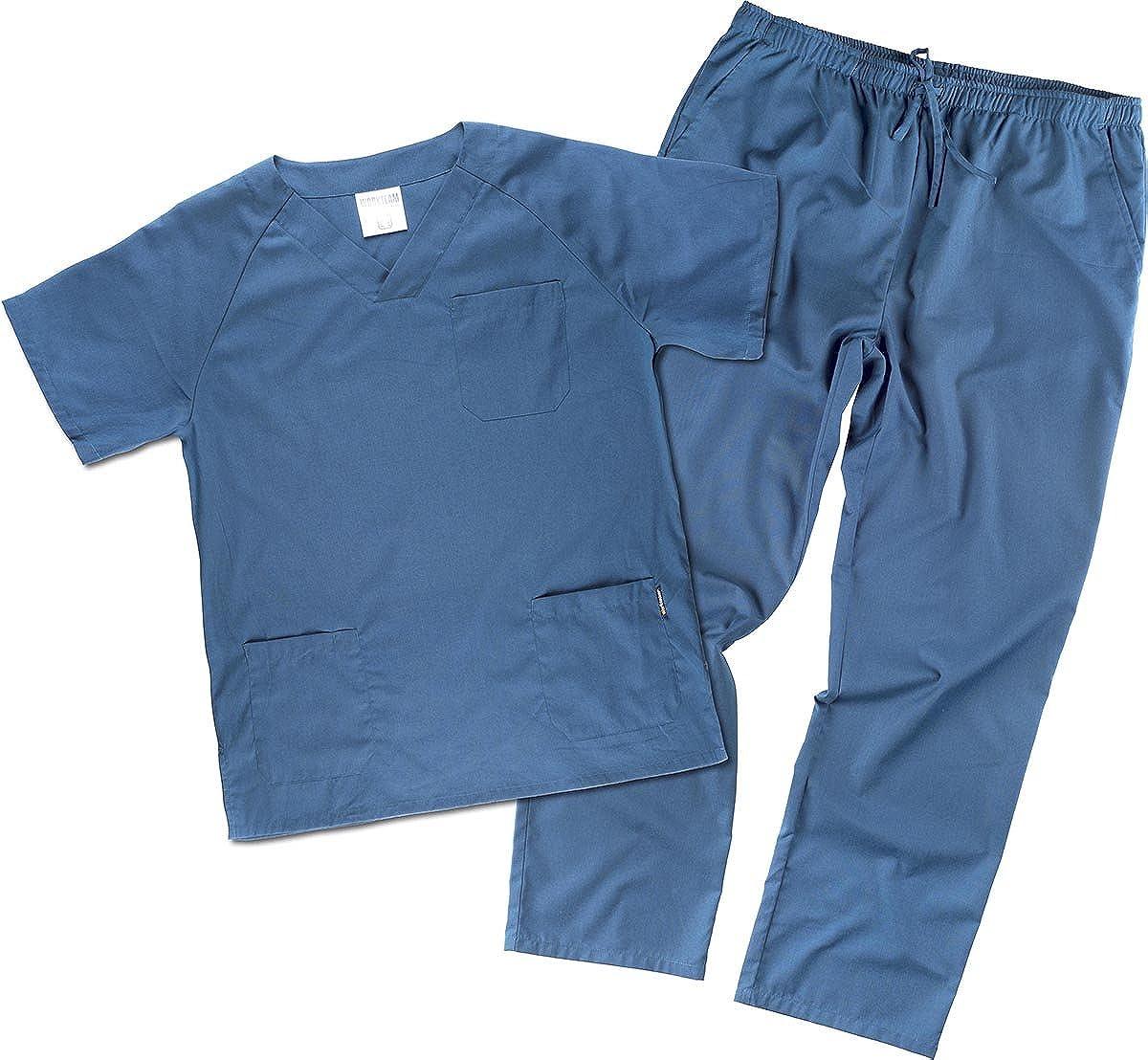 Work Team Uniforme Sanitario, con elástico y cordón en la Cintura, Casaca y Pantalon Unisex: Amazon.es: Ropa y accesorios