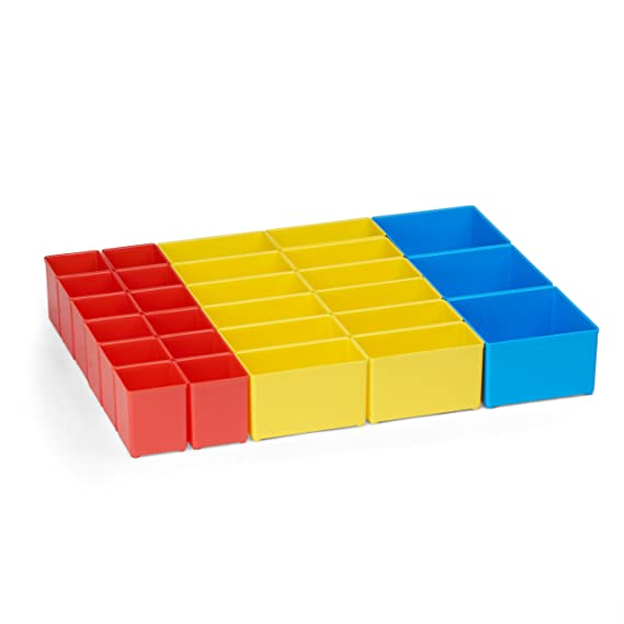 36 Stück Bosch Sortimo Insetbox rot A3 gelb B3 Insetboxen NEU für L-Boxx T-Boxx