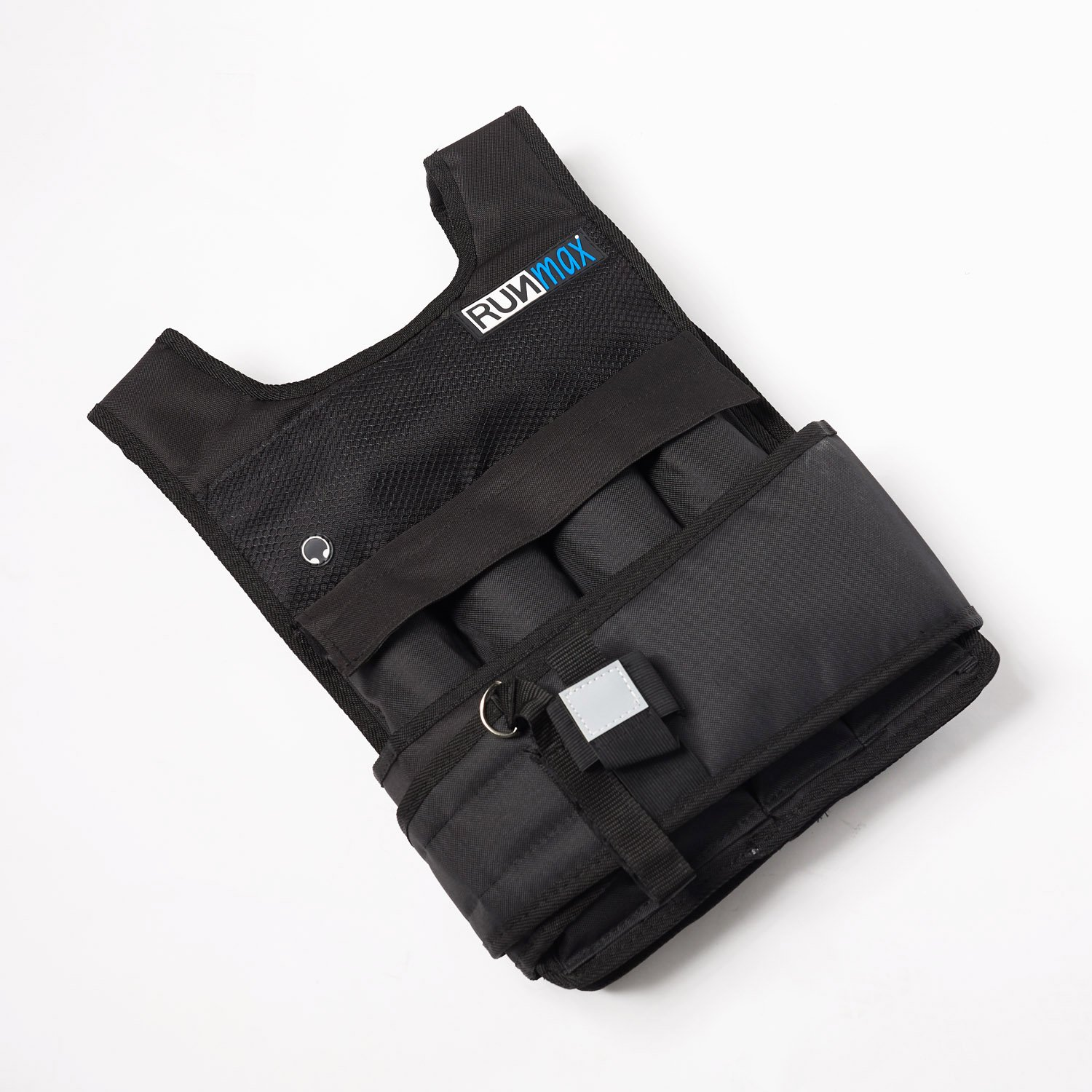 RUNmax Adjustable Weighted Vest - with Shoulder Pads