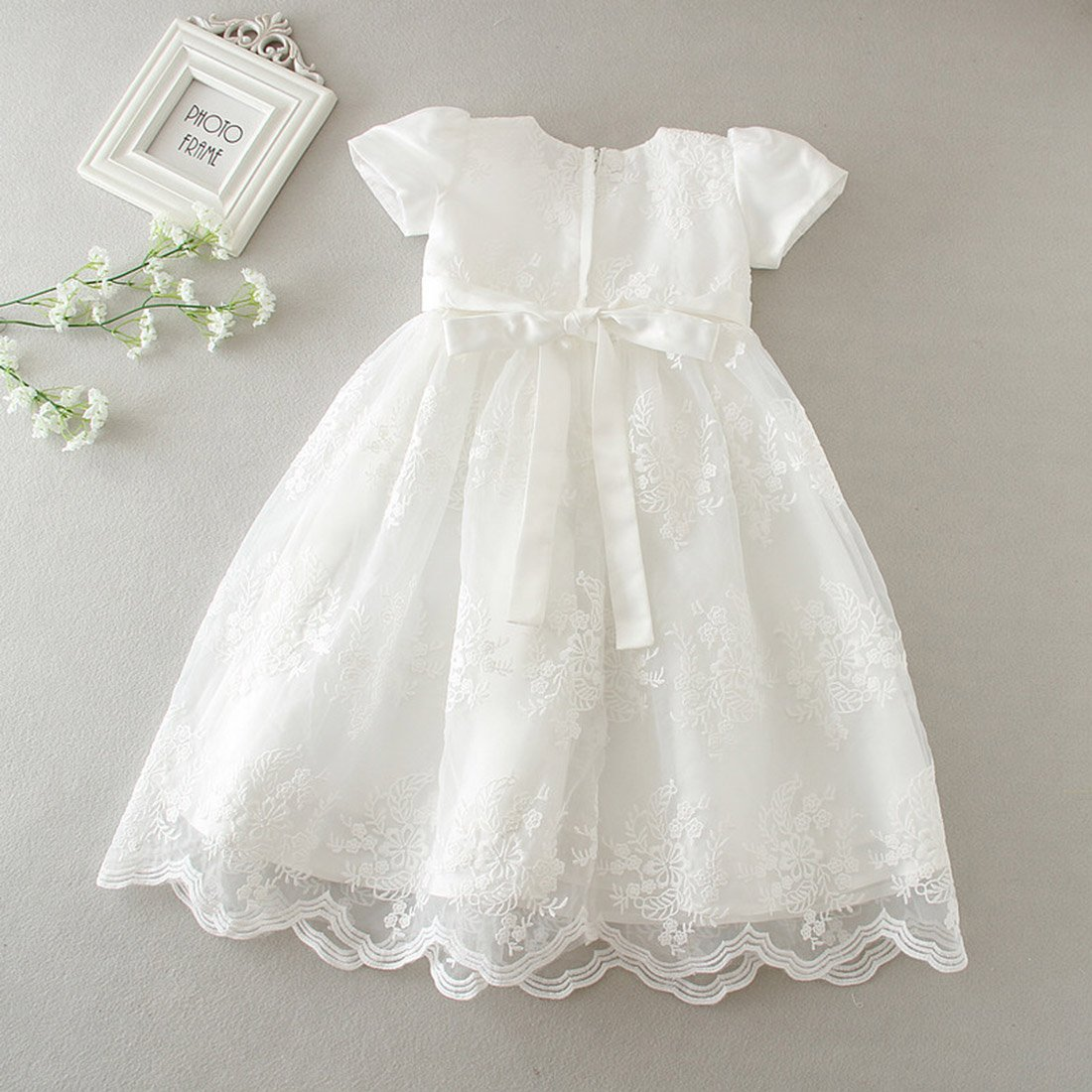 Happy Cherry Baby Girls Cotton Christening Gown Dress Formal Party Special Occasion Dresses