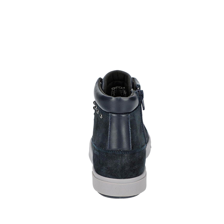 Blomiee D746HB 0PVBC C4002 Damen Schnürschuh aus Nubukleder Reißverschluss, Groesse 38, Blau/Metallic Geox
