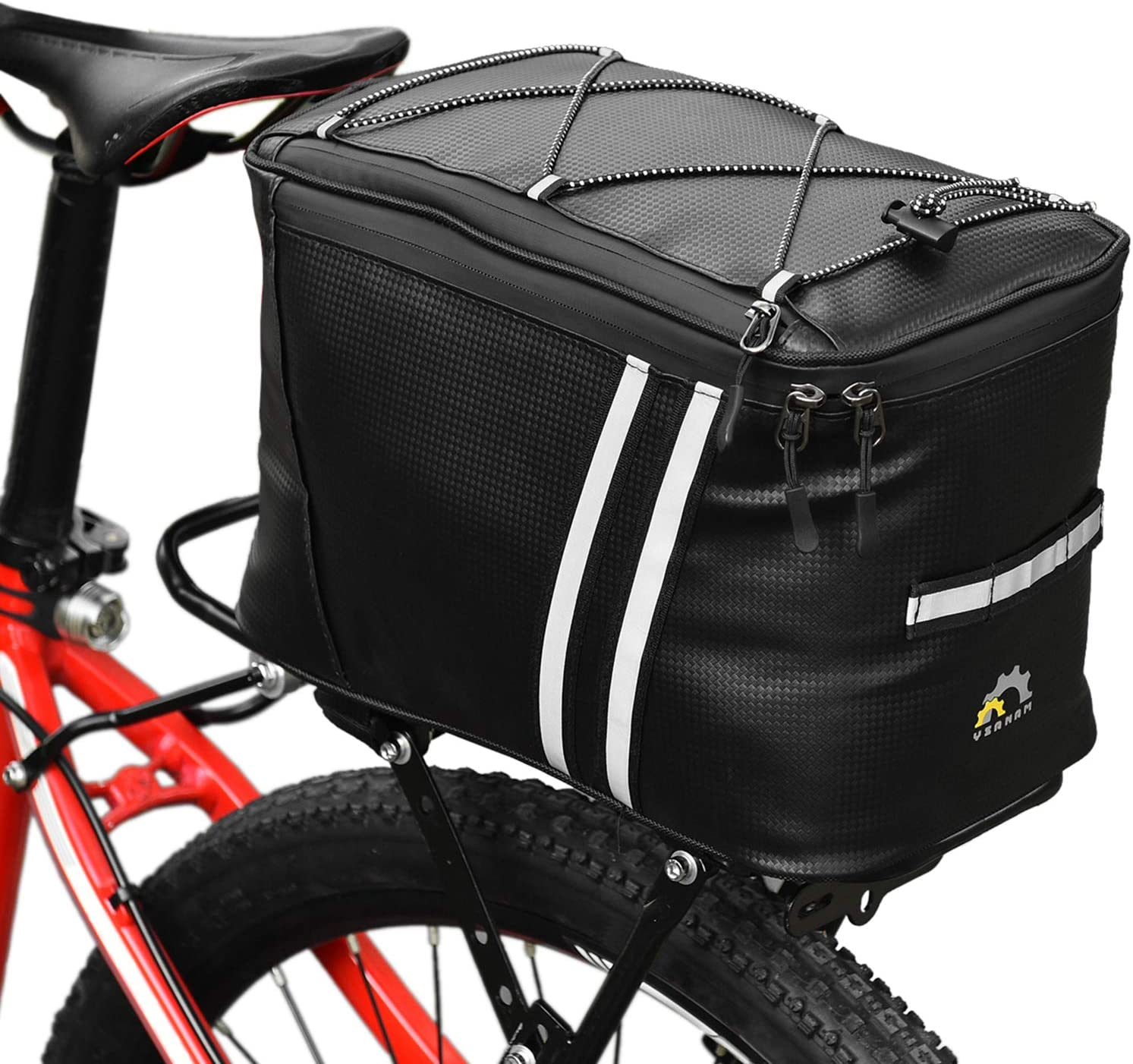 Irfora Water Resistant Bike Rack Bag with Thermal Insulation Compartment Bicycle Bag Bike Trunk Bag