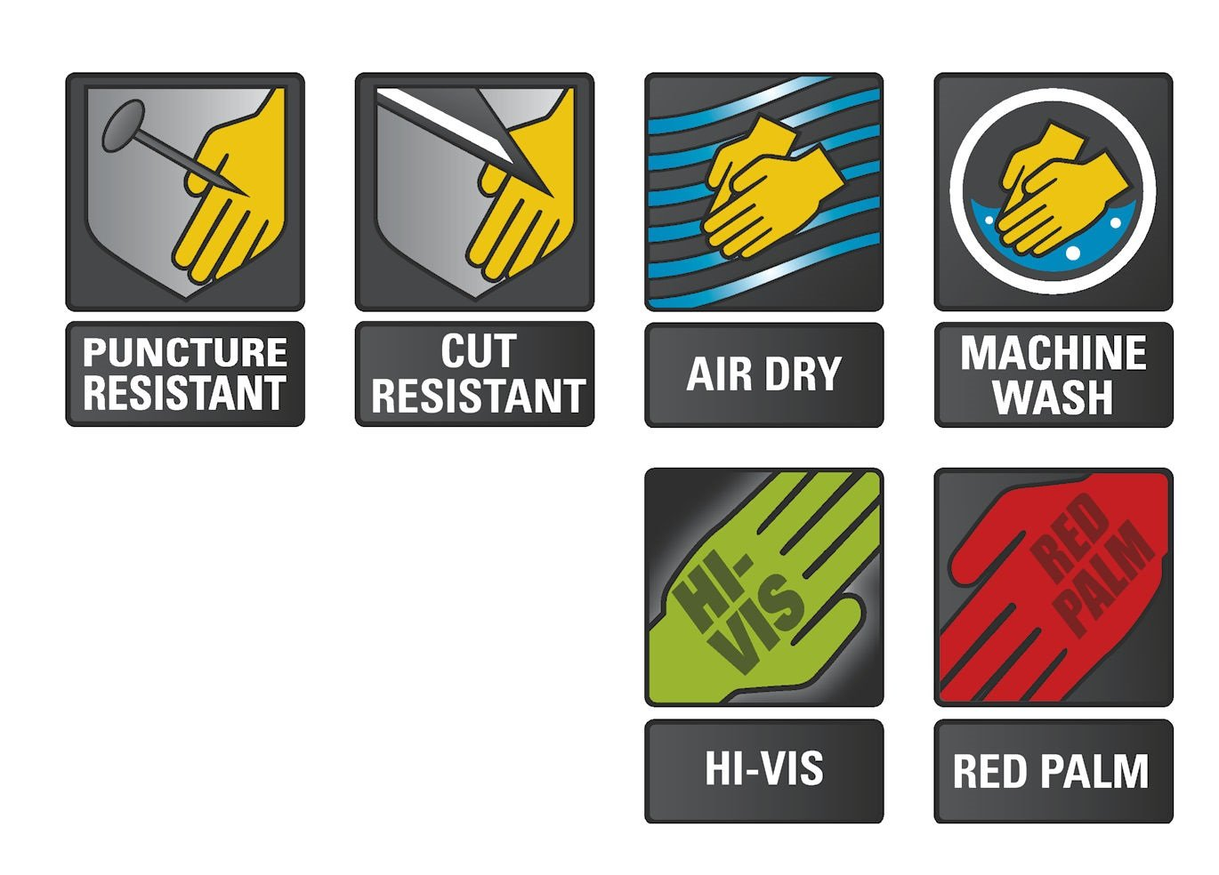 Impact-Resistant Gloves X-Small Ringers R-267 Roughneck Heavy Duty Work Gloves