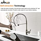 APPASO Commercial Kitchen Faucet with Pull Down