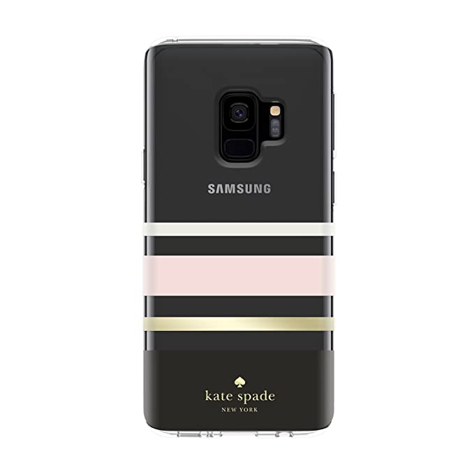 new style ee396 0afff kate spade new york Protective Hardshell Case for Samsung Galaxy S9 - Multi  Charlotte Stripe Black / Cream / Blush / Gold