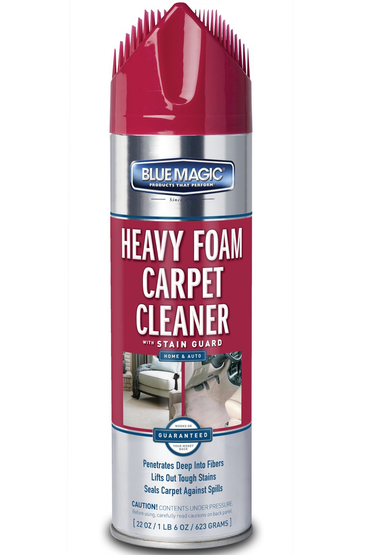 Blue Magic 912-06PK Heavy Foam Carpet Cleaner - 22 fl. oz, (Pack of 6)