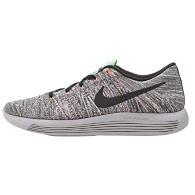 Nike Men's LunarEpic Low Flyknit Running Shoe White/black/bright  Mango/gamma Blue