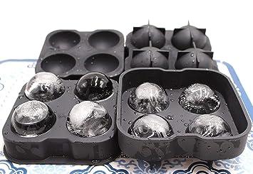 Molde de silicona redondo para hacer bolas de hielo para bebidas, gelatina o postres,