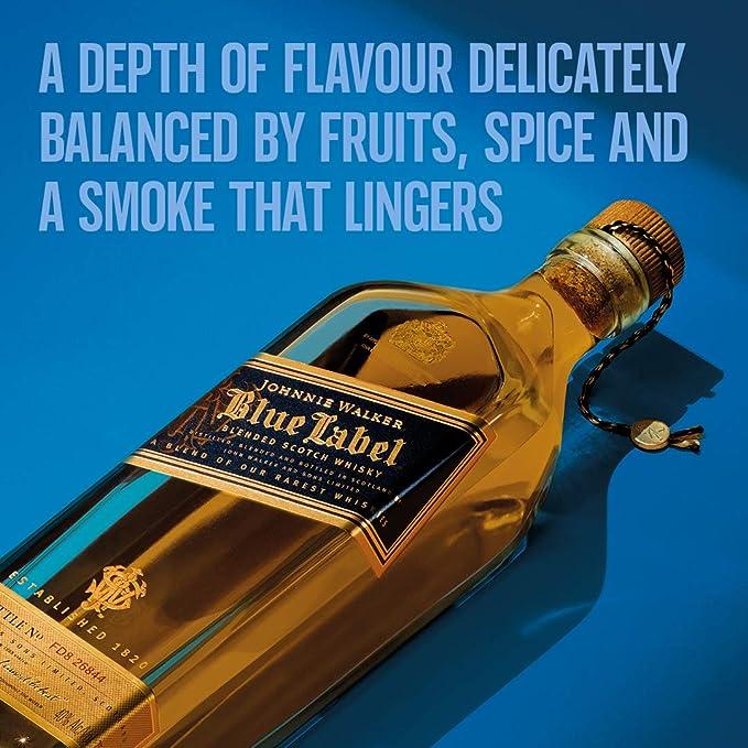 Johnnie Walker Blue Label Whisky Esconcés, 700 ml: Amazon.es ...