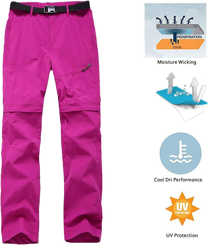 LANBAOSI Donna Quick Dry Ansimarealone Da Escursione Impermeabili Pantaloncini Convertibili