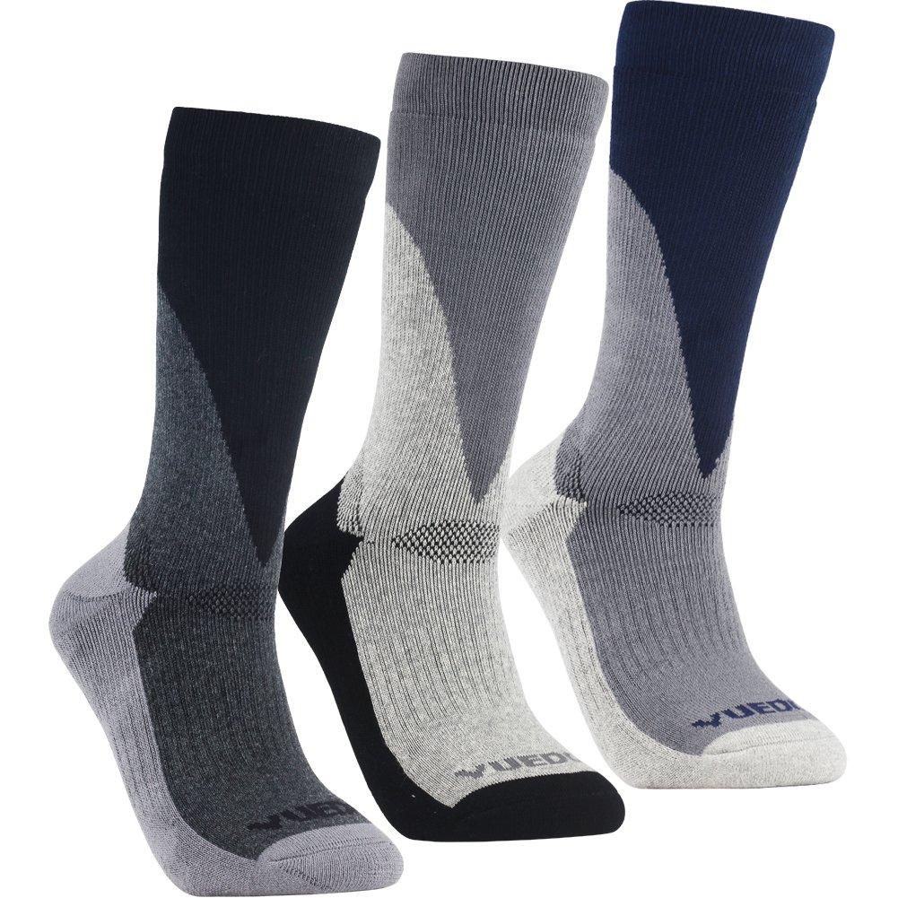 YUEDGE 3 Pares de Hombres Calcetines Multi Rendimiento Anti-ampollas para Deportes al Aire Libre Senderismo Trekking Acampar Mochilero