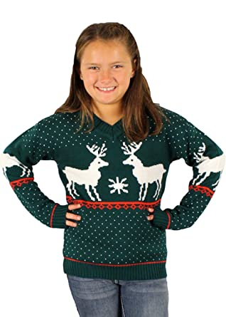 ugly christmas sweater childrens reindeer games holiday sweater in green 8 20 - Childrens Ugly Christmas Sweaters