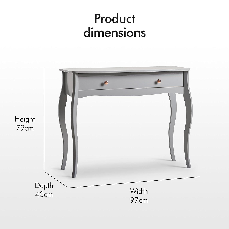 Miroir maquillage//coiffeuse autoportant avec rotation en pivot /à 360/° Miroir de table gris Beautify