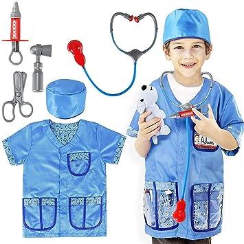 Bascolor Veterinario Disfraz para niños Veterinario Accesorios ...