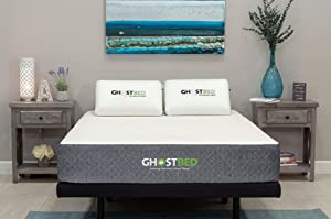 GhostBed Mattress-Full 11 Inch-Cooling Gel Memory Foam-Mattress in a Box-Most Advanced Adaptive Gel Memory Foam–Coolest Mattress in America-Made in the USA–Industry Leading 20 Year Warranty