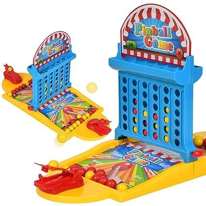 Amazon.com: RONSHIN niños Funny Pinball Juego Juguete Set + ...