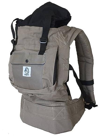 Mochila portabebes para llevar a tu bebe Manos libres - Portabebes de diseño Ergonómico con Múltiples posiciones - Se adapta a medida que tu hijo ...