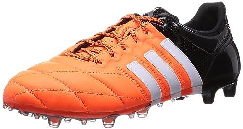 buy online 199c6 a16b3 adidas Ace 15.1 FG AG Leather Uomo Scarpe da calcio, Arancia, 39 1 3   Amazon.it  Scarpe e borse