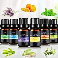 Aceites Esenciales de Aromaterapia - Pesoo 100% de Aceite Esencial Natural Conjunto de Difusores y Humidificadores con...