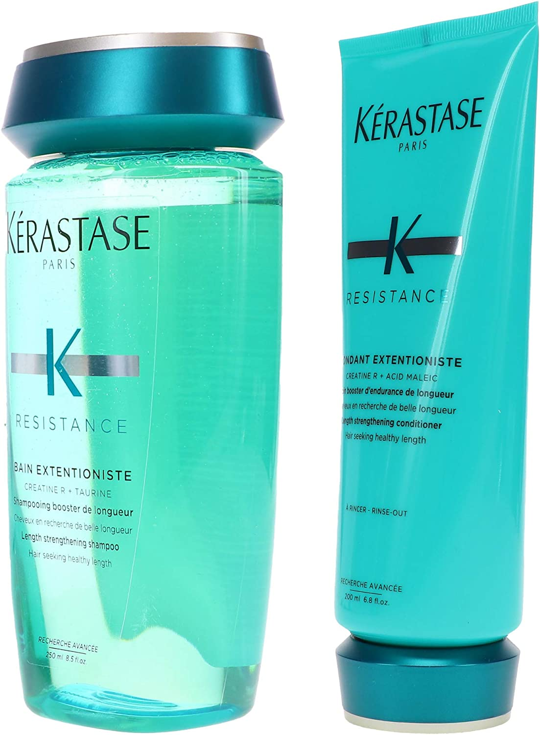 Amazon Com Kerastase Bain Extentioniste 8 5 Oz Fondant Extentioniste 6 8 Oz Duo Set Set Oz Health Personal Care
