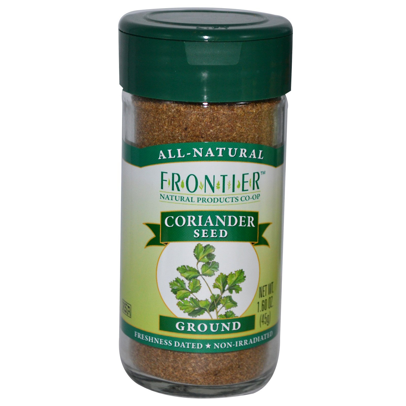 Frontier Natural Products, Coriander Seed, Ground, 1.60 oz (45 g) - 2PC