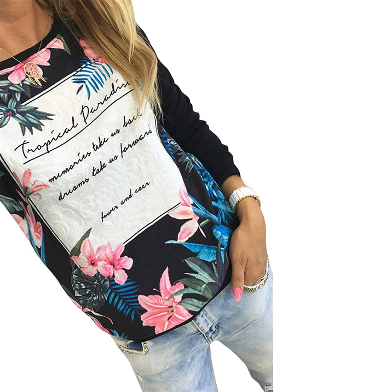 HN Printing Long Sleeve Shirts For Women Casual Blouse Gap