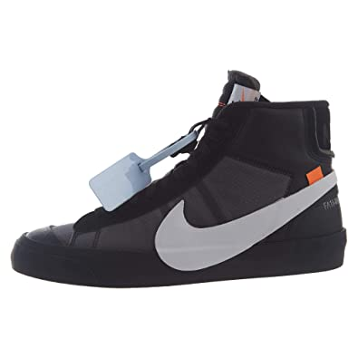 watch d0438 3213a Nike Mens The 10 Blazer Mid Grim Reaper Black White-Cone-Black Leather