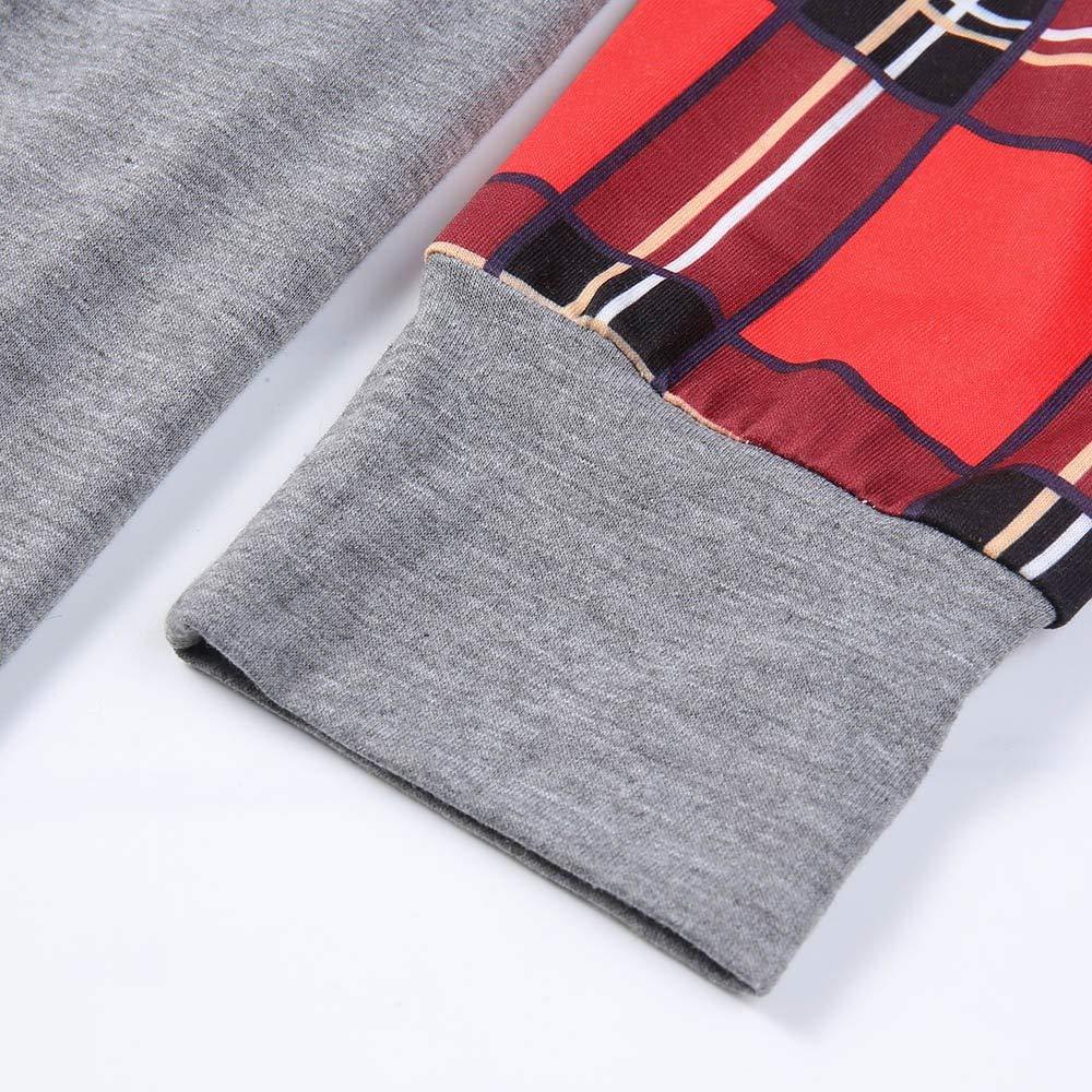 Luckycat Blusa de túnica de Manga Larga a Cuadros Patchwork Ligero Blusa Tops Camisa: Amazon.es: Ropa y accesorios