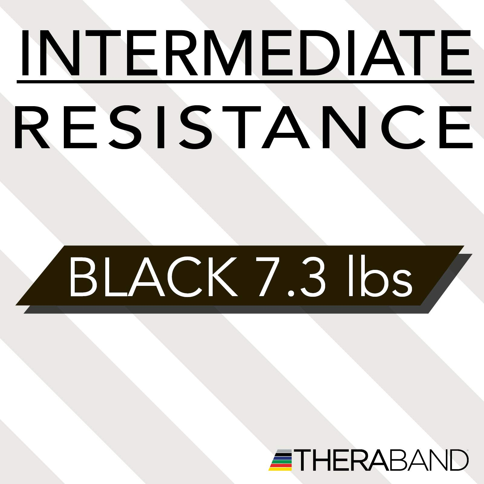 TheraBand Resistance Bands, 6 Yard Roll Professional Latex Elastic Band For Upper & Lower Body, Core Exercise, Physical Therapy, Pilates, Home Workouts, Rehab, Black, Special Heavy, Advanced Level 1 by TheraBand (Image #8)