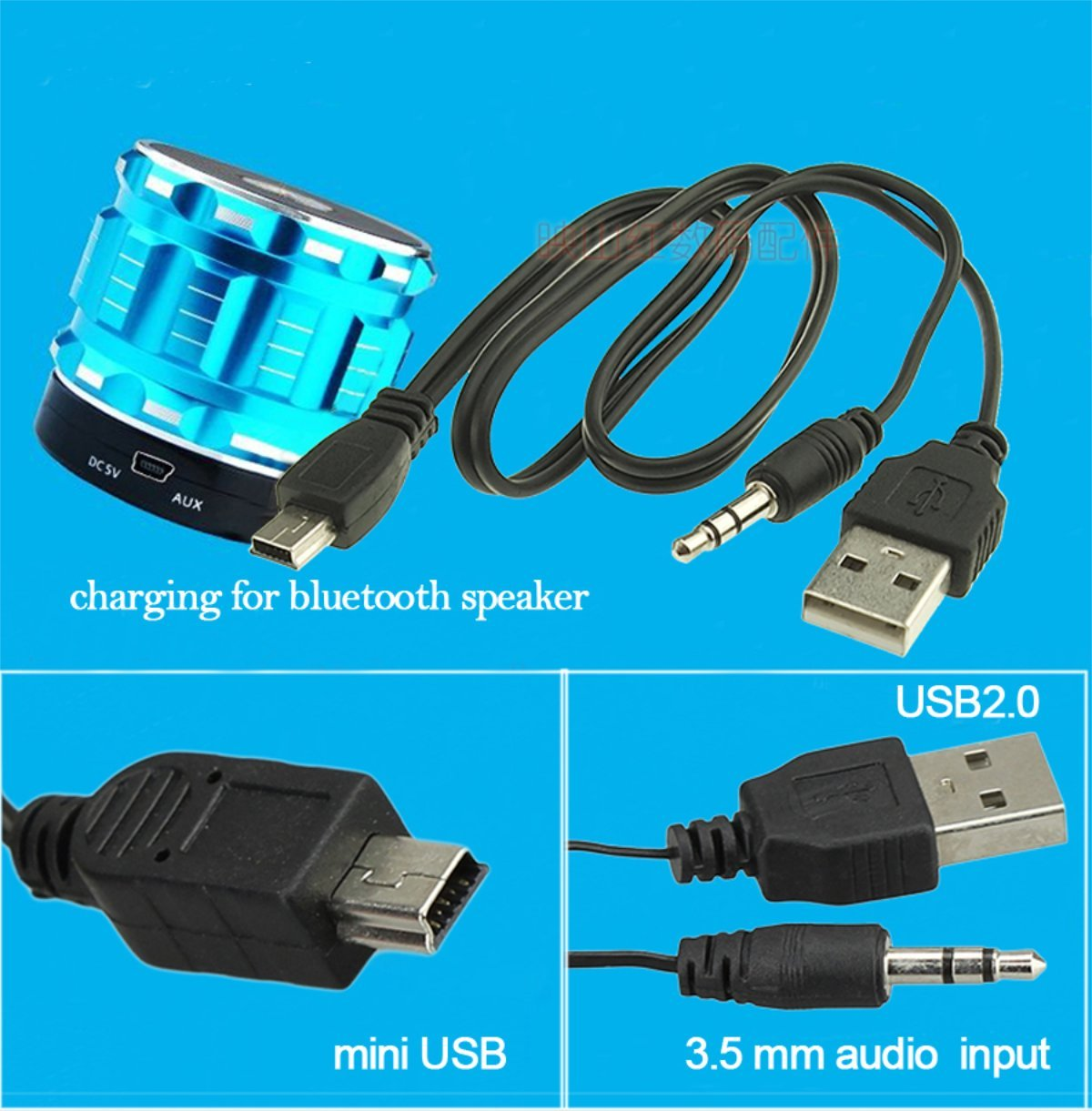 Amazon.com: 1x Micro 5pin to 3.5mm Jack USB Audio Cable for Samsung ...