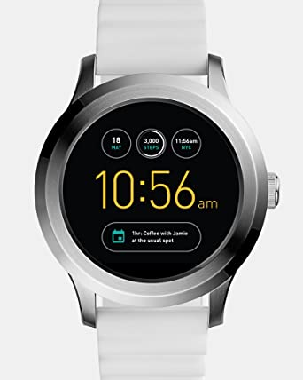 0398f5f94d82 Fossil Q Founder Gen 2 White Silicone Touchscreen Smartwatch FTW2115