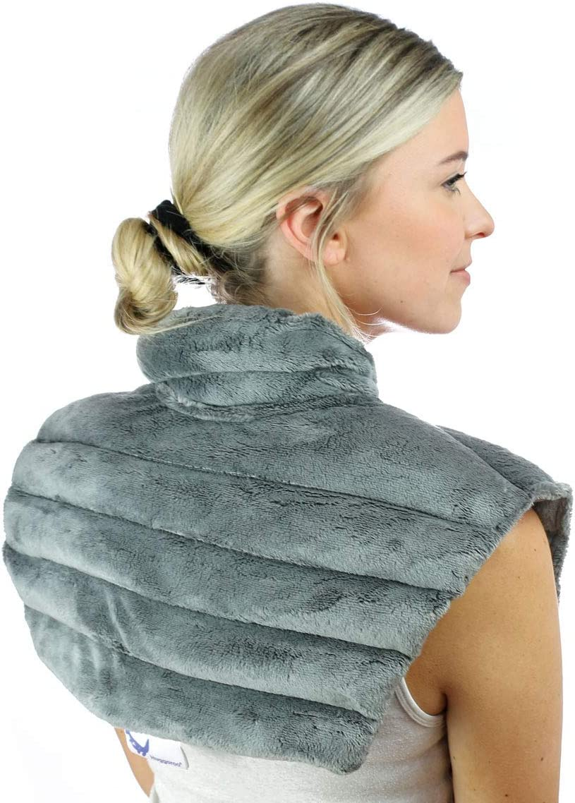 Huggaroo Neck Wrap Heat Pad - Aromatherapy, Grey