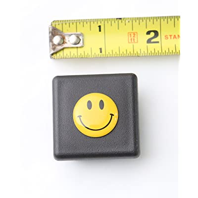 """LFPartS 1 1/4 Inch (1.25"""") Trailer Hitch Cover Plug Insert Fits 1 1/4 Inch (1.25"""") Receivers (Yellow Smiley Happy Face): Automotive"""