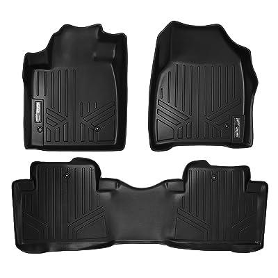 MAXLINER Floor Mats 2 Row Liner Set Black for 2009-2015 Honda Pilot: Automotive