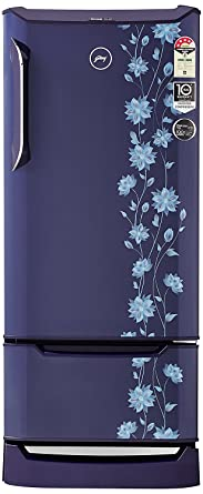 Godrej 225 L 4 Star Direct Cool Single Door Refrigerator(RD EDGE DUO 225 PD INV4.2 ERICA Blue, Erica Blue, Base Stand with Drawer, Inverter Compressor)