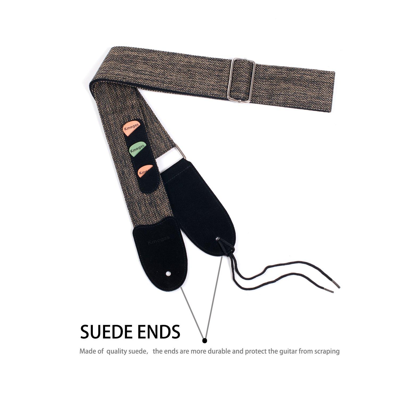 Musicer Tejido Jacquard de correa para guitarra Hootenanny vintage estilo acústico y bajo eléctrico guitarra con pick - Pocket: Amazon.es: Instrumentos ...