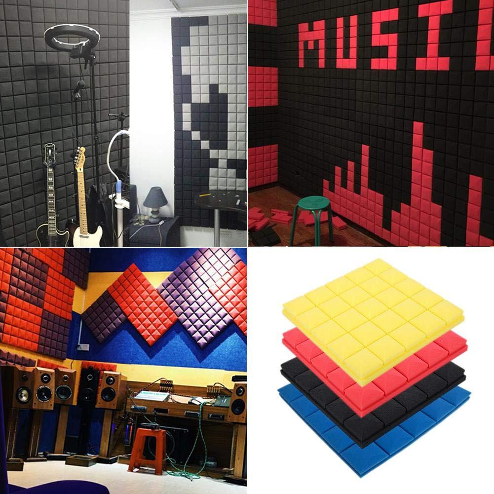 gaeruite 50 x 50 x 5 cm DIY Studio Akustikschaumplatten Akustikschaum Schalld/ämmung Schaum 1 St/ück Studio Studio Sound Treatment