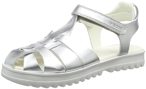 Geox Mädchen J Sandal Karly Girl I, Silber (Silver), 34 EU