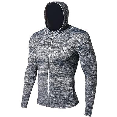 97bff684ea690 LSPARTY ランニングウェア スポーツウェア ジャージ パーカー スウェットジャケット メンズ ジョギング ウォーキング フィットネス ジム  トレーニング 伸縮