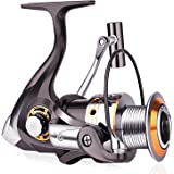 Sougayilang Fishing Reel with Left Right Interchangeable Collapsible Handle 12+1 Ball Bearings for Freshwater Saltwater Fishing