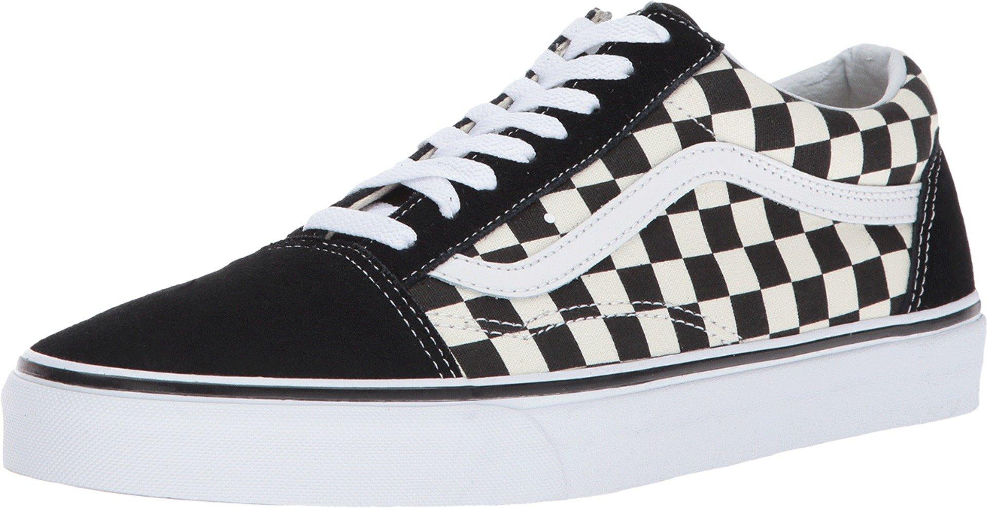 Vans Unisex Checkerboard Old Skool Lite Blk/White Checkerboard Slip-On - 3.5 by Vans (Image #1)