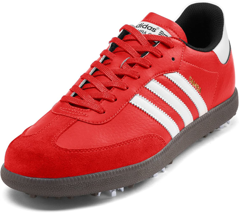 Amazon Com Adidas Samba Golf Shoes Red White Gum Medium 15 Golf