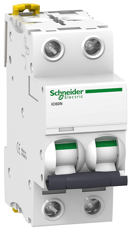 disjoncteur 2 pôles - schneider acti9 ic60n - 32 ampères - courbe b - a9f76232 Schneider electric