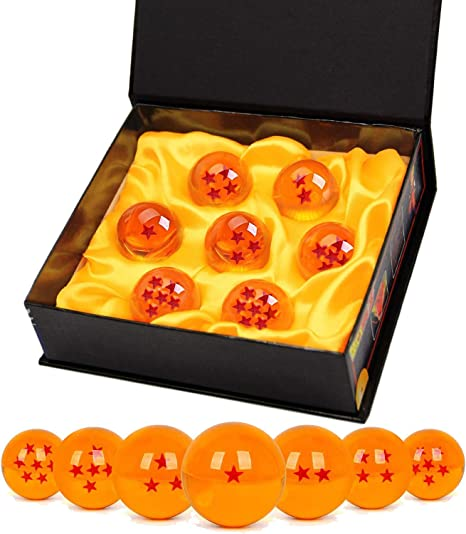 TATAFUN Bolas del Dragón, 7 PCS Dragon Ball Dragonball 1 a 7 Estrellas con Caja de Regalo, Bola de Cristal Transparente,decoración K9- Diámetro 4,3cm: Amazon.es: Juguetes y juegos
