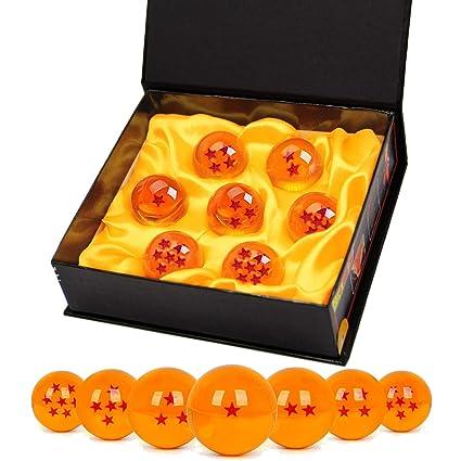 Bolas del Dragón, 7 PCS Dragon Ball DragonBall 1 a 7 Estrellas con Caja de Regalo, Bola de Cristal Transparente,decoración K9,Regalo de Año Nuevo para ...