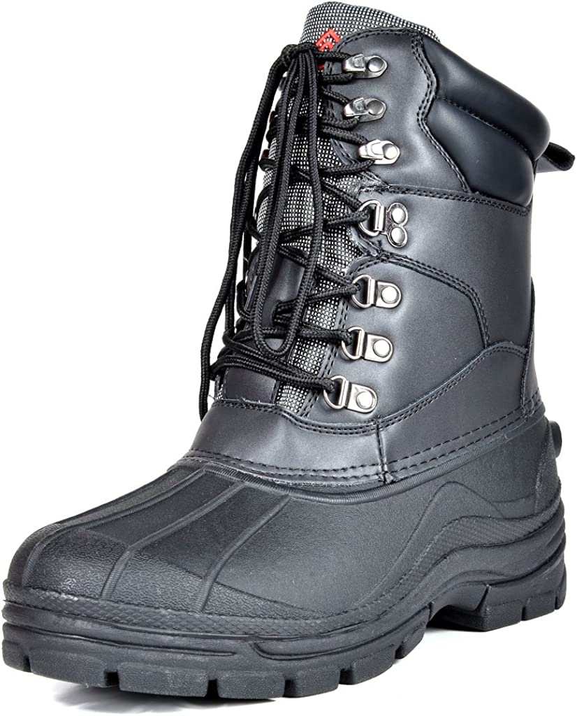 DREAM PAIRS Mens Insulated Waterproof Winter Snow Boots