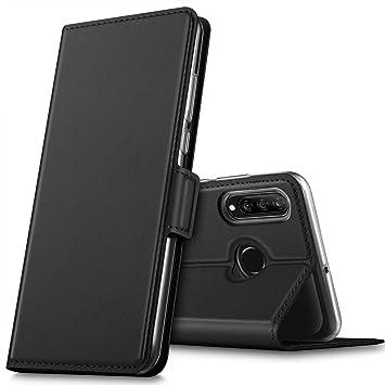 GEEMAI Diseño para Huawei P30 Lite Funda, Protectora PU Funda Multi-ángulo a Prueba de Golpes y Polvo a Prueba de Silicona con Soporte Plegable Apto ...